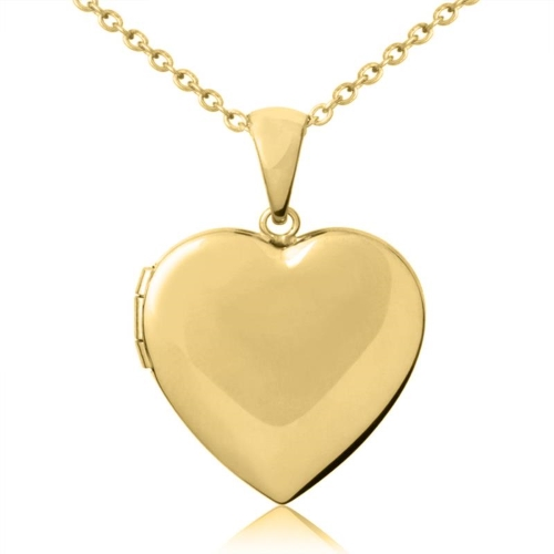 gold plated heart pendant